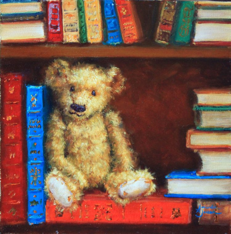 bertie the library bear button ear teddy books antique