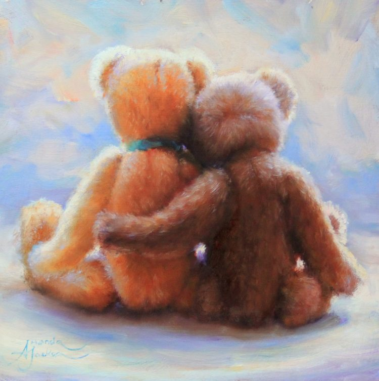 teddy bears love friendship together