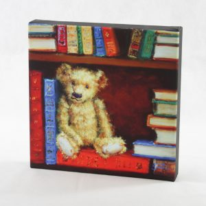 canvas print teddy bear bruin library bibliothek