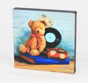 12x12 custome canvas teddy bear vintage classic record book