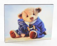 20x16 canvas teddy duffle coat vintage bear friendly fellow loveable art print