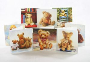 Fantastic value pack of 8 teddy bear greetings cards for any occasion black inside