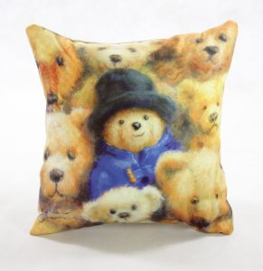soft faux suede cushion pillow bears teddies collection